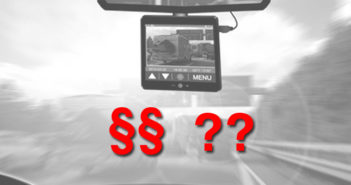 Sind Dashcams legal
